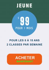 B1- Classes pour jeunes – 1 Month